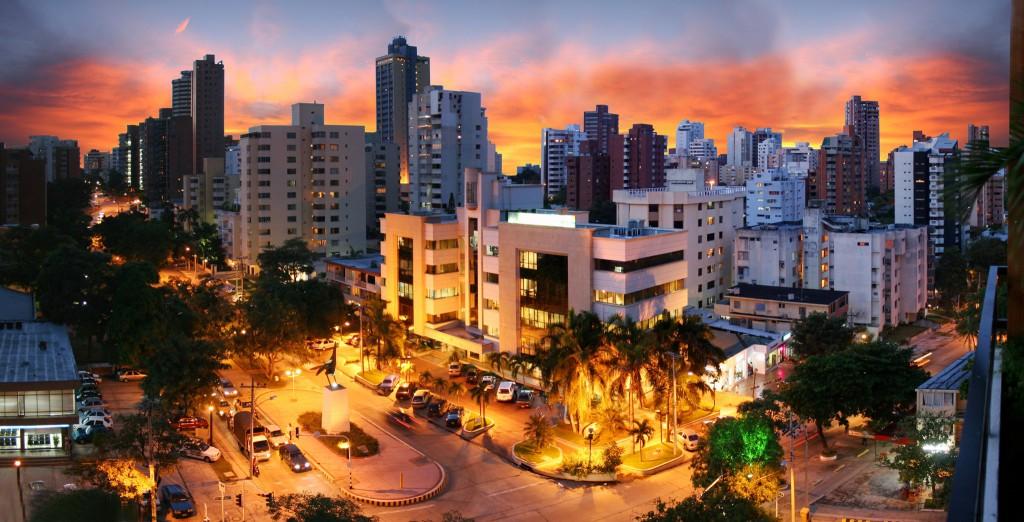 Barranquilla Skyline Sunset